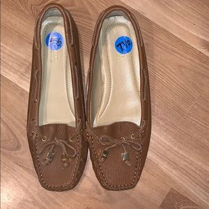 MK Michael Kors loafers brown leather size 7.5